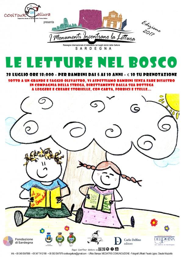 Locandina A3 Rassegna letteraria -LETTURE NEL BOSCO