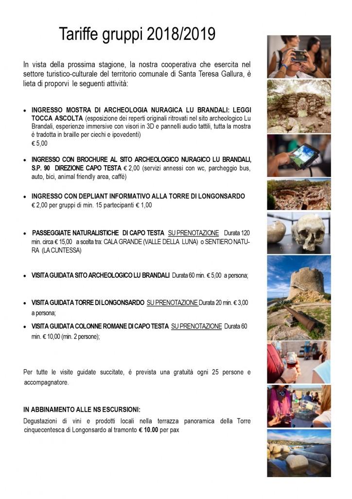 Proposte beni culturali Santa Teresa Gallura 2019 grp