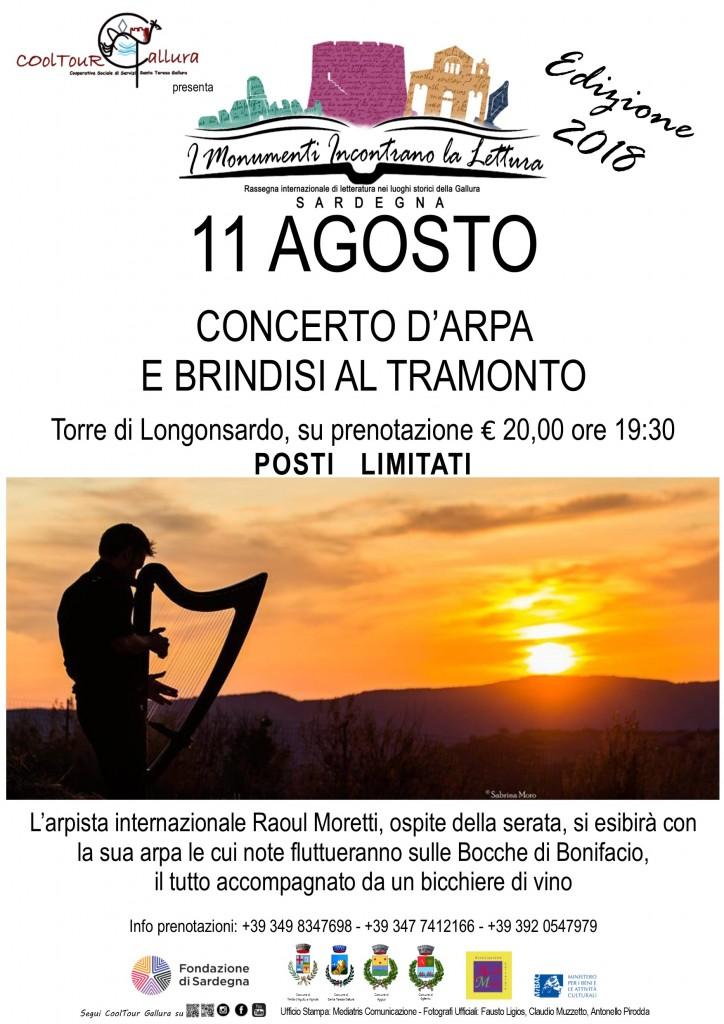 Locandina A3 Rassegna letteraria Concerto d'Arpa