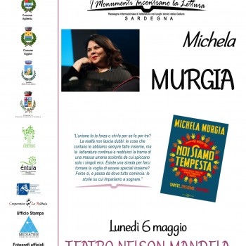 Locandina A3 Rassegna letteraria Michela Murgia
